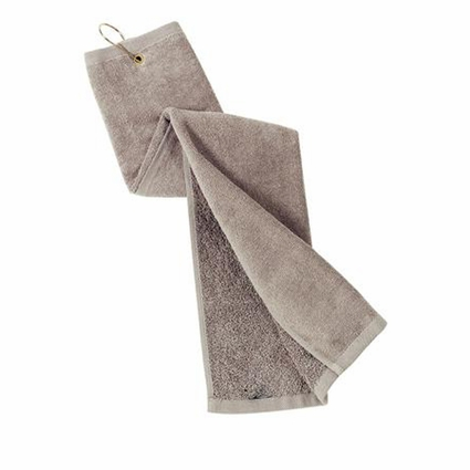 Port Authority Golf Towel: 100% Cotton Terry Velour Grommeted Tri-Fold (TW50)
