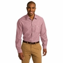 Port Authority Men's Chambray Shirt: Cotton Blend Textured Tonal Stitch (S653)