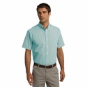 Port Authority Men's Shirt: Gingham Easy Care Pocketed (S655)