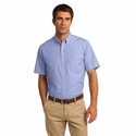 Port Authority Men's Poplin Shirt: Crosshatch Easy Care Pocketed (S656)