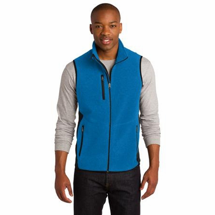 Port Authority Men's Fleece Vest: Pro Color Block Full-Zip (F228)