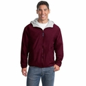 Port Authority Men's Jacket: Team Sweatshirt Fabric Lined with Pockets (JP56)