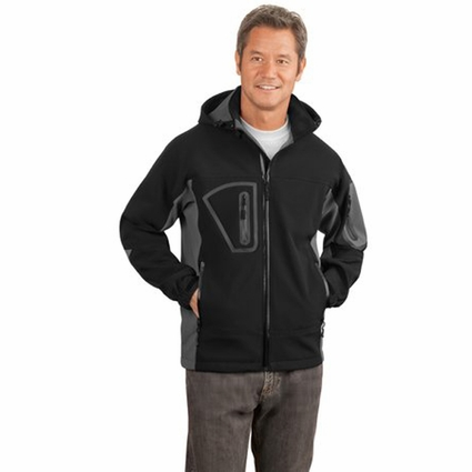 Port Authority Men's Soft Shell Jacket: Waterproof Hooded (J798)