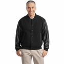 Port Authority Men's Jacket: Wool and Leather Letterman (J783)