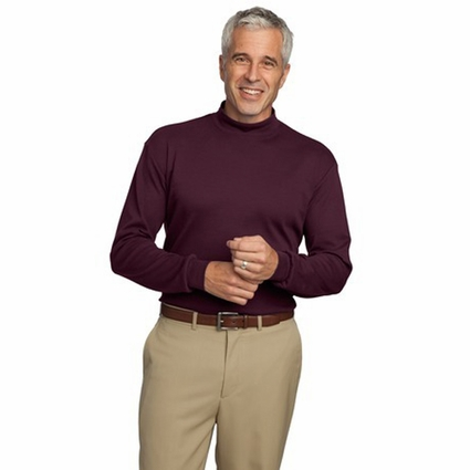 Port Authority Men's Mock Turtleneck: 100% Cotton Interlock Knit (K321)