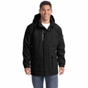 Port Authority Men's Parka: Heavyweight Pocketed with Snap-Off Hood (J799)