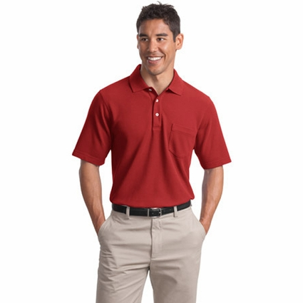 Port Authority Men's Polo Shirt: EZCotton Pique Pocketed (K800P)