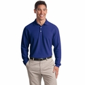 Port Authority Men's Polo Shirt: EZCotton Pique Long Sleeve (K800LS)