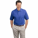 Port Authority Men's Polo Shirt: 100% Cotton Pique Knit Pocket (K420P)