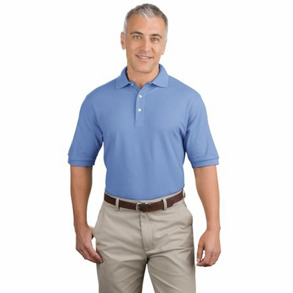 Port Authority Men's Polo Shirt: 100% Pima Cotton (K448)