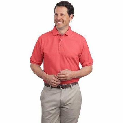Port Authority Men's Polo Shirt: Extended Size Silk Touch (K500ES)