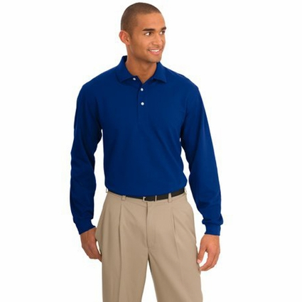 Port Authority Men's Polo Shirt: Signature Rapid Dry Long Sleeve (K455LS)