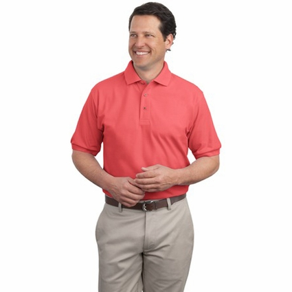 Port Authority Men's Polo Shirt: Silk Touch Pique (K500)