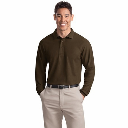 Port Authority Men's Polo Shirt: Silk Touch Long Sleeve (K500LS)