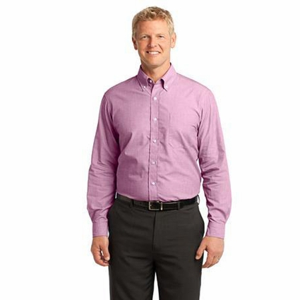 Port Authority Men's Poplin Shirt: Crosshatch Easy Care (S640)