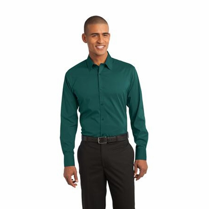 Port Authority Men's Poplin Shirt: Stretch