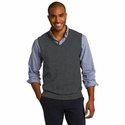 Port Authority Men's Vest: Cotton Blend Sweater V-Neck (SW286)