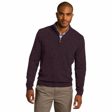 Port Authority Men's Sweater: Cotton Blend 1/2-Zip Pullover (SW290)