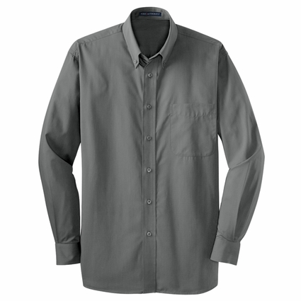 Port Authority Men's Tall Dress Shirt: Easy Care Tonal Pattern Pocketed (TLS613)