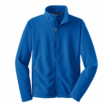 Port Authority Men's Tall Fleece Jacket: Value Pocketed Full-Zip (TLF217)