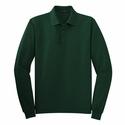 Port Authority Men's Tall Polo Shirt: Poly Blend Pique Silk Touch Long Sleeve (TLK500LS)