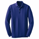 Port Authority Men's Tall Polo Shirt: EZCotton Pique Long Sleeve (TLK800LS)