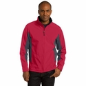 Port Authority Men's Tall Soft Shell Jacket: Waterproof Core Color Block (TLJ318)