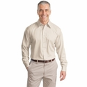 Port Authority Men's Twill Shirt: 100% Cotton Long Sleeve Non-Iron (S638)