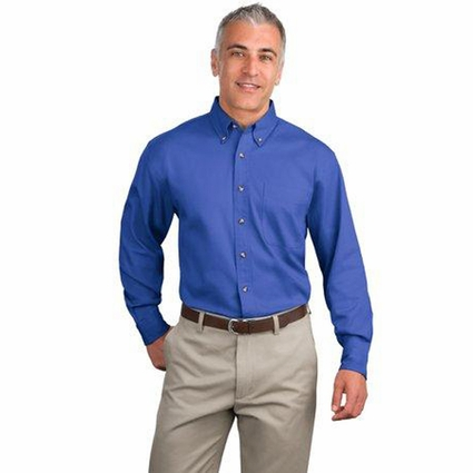 Port Authority Men's Twill Shirt: 100% Cotton Long Sleeve (S600T)