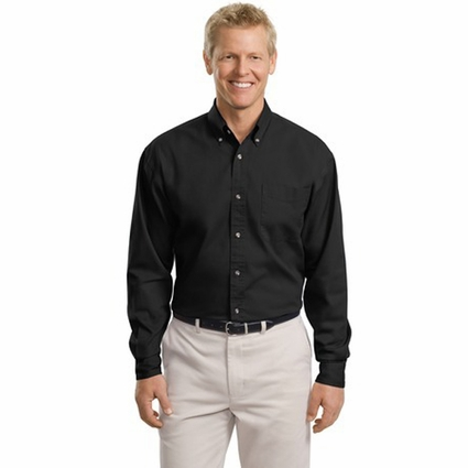 Port Authority Men's Tall Twill Shirt: 100% Cotton Long Sleeve (TLS600T)