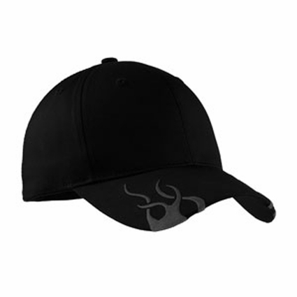 Port Authority Racing Cap: 100% Cotton Twill Flames (C857)