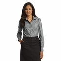 Port Authority Women's Button-Down: Gingham Easy Care Long Sleeve (L654)