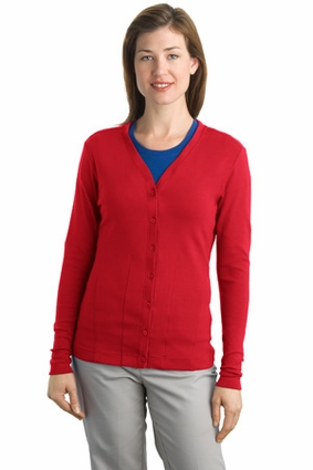 Port Authority Women's Cardigan Sweater: Modern Stretch Cotton (L515)