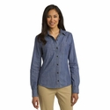 Port Authority Women's Denim Shirt: 100% Cotton Pocketed with Darts (L652)