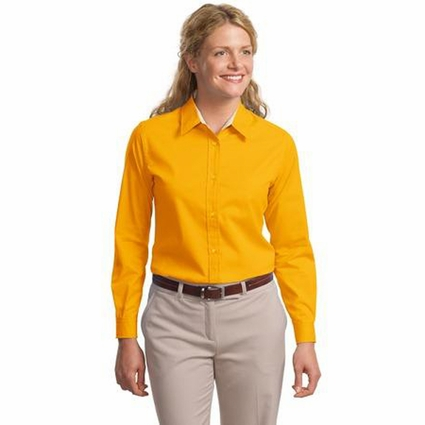 Port Authority Women's Dress Shirt: Cotton Blend Easy Care Long Sleeve (L608)