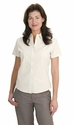Port Authority Women's Dress Shirt: Cotton Blend Easy Care Short Sleeve (L507)