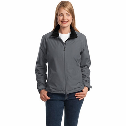 Port Authority Women's Jacket: Nylon Heavyweight Fleece Lined with Pockets (L354)