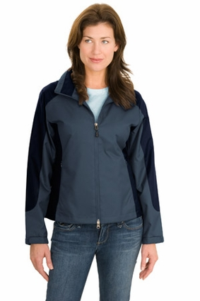 Port Authority Women's Jacket: 100% Polyester Twill Color Block Full-Zip (L768)