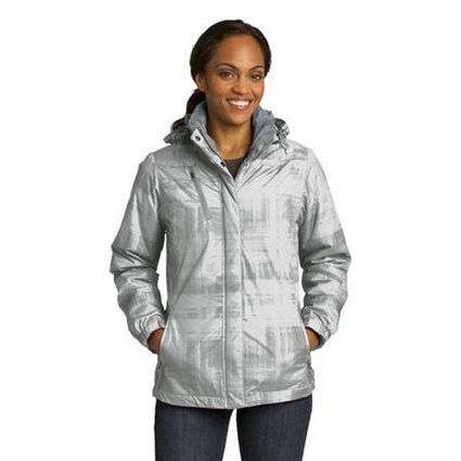 Port Authority Women's Jacket: Insulated Brushstroke Print with Zip-Off Hood (L320)