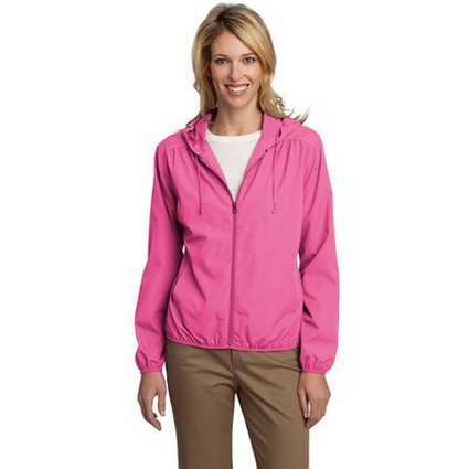 Port Authority Women's Jacket: Lightweight Essential Hooded (L305)
