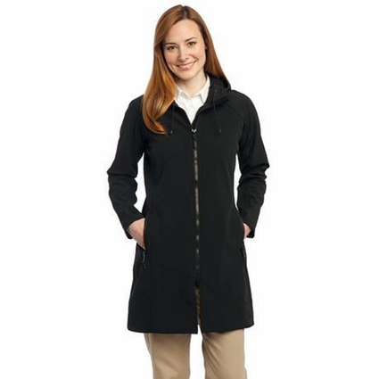 Port Authority Women's Jacket: Long Textured Hooded Soft Shell (L306)