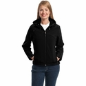 Port Authority Women's Jacket: Textured Hooded Soft Shell (L706)