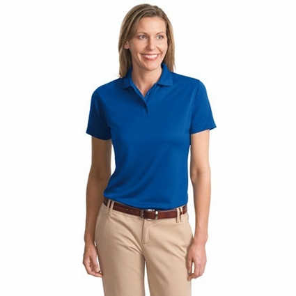 Port Authority Women's Polo Shirt: Bamboo Blend Pique with Wicking (L497)