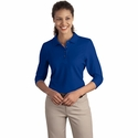 Port Authority Women's Polo Shirt: Silk Touch 3/4-Sleeve (L562)