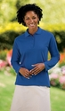 Port Authority Women's Polo Shirt: Silk Touch Long Sleeve (L500LS)