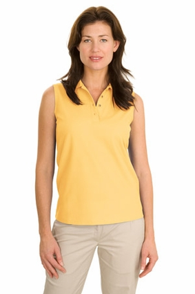 Port Authority Women's Polo Shirt: Silk Touch Sleeveless (L500SVLS)