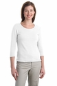 Port Authority Women's T-Shirt: Modern Stretch Cotton 3/4-Sleeve Scoop Neck (L517)