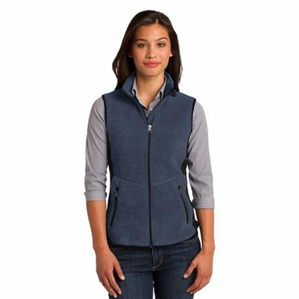 Port Authority Women's Fleece Vest: Pro Color Block Full-Zip (L228)
