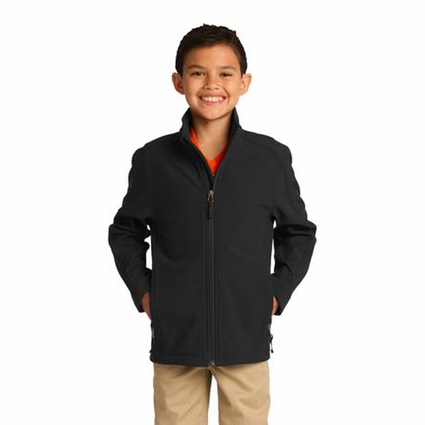Port Authority Youth Soft Shell Jacket: Waterproof Core Full-Zip (Y317)