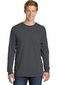 Port & Co Essential Pigment-Dyed Long Sleeve Pocket Tee